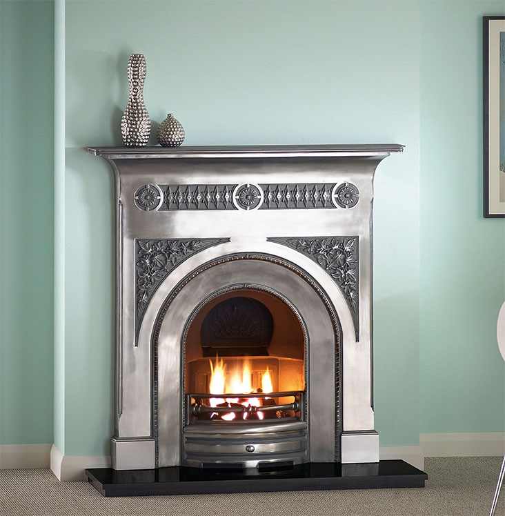 CAPITAL FAIRBURN FULL POLISHED CAST IRON traditional fireplace